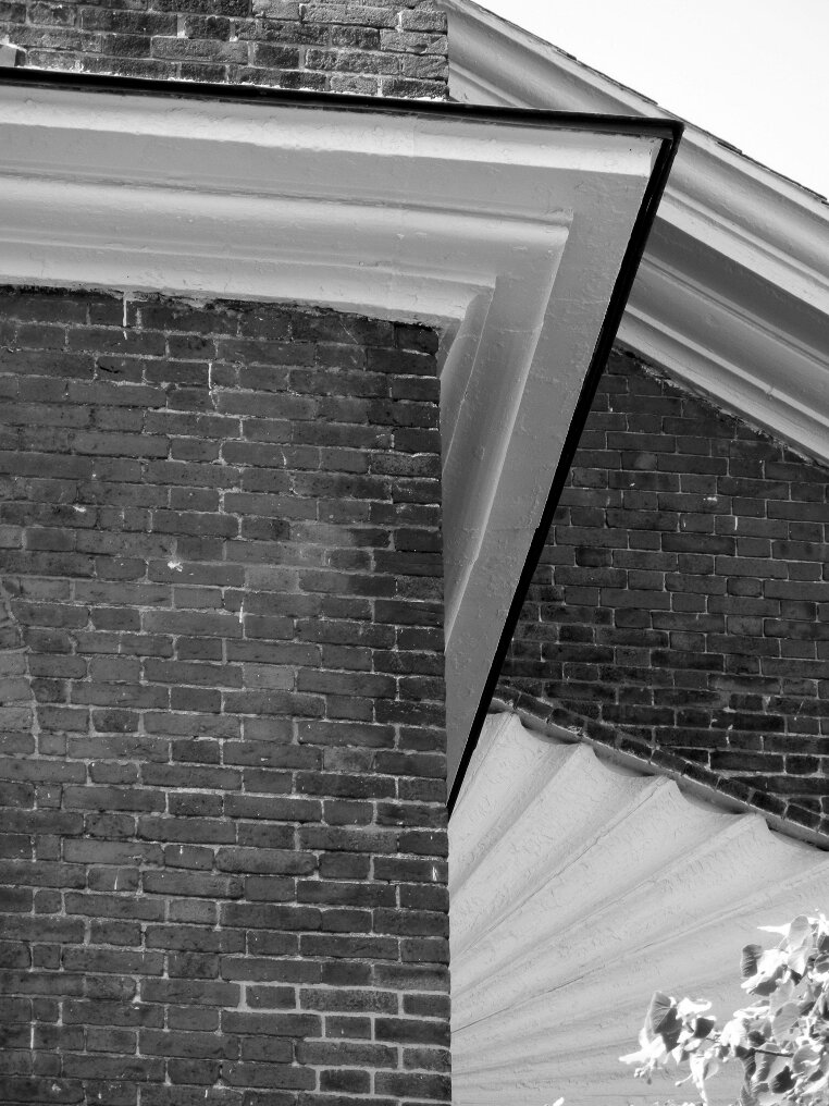 Brick, Beacon Hill, Charles street meeting house, roof top