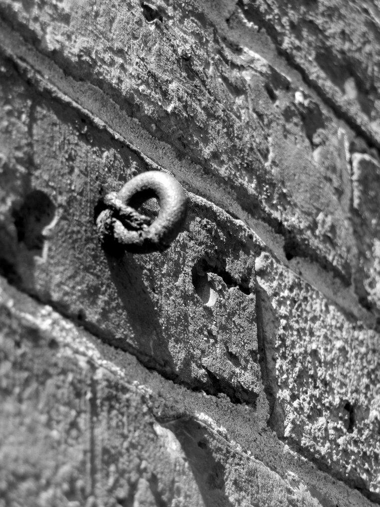 brick, metal hinge, Beacon Hill, Charles street meeting house,
