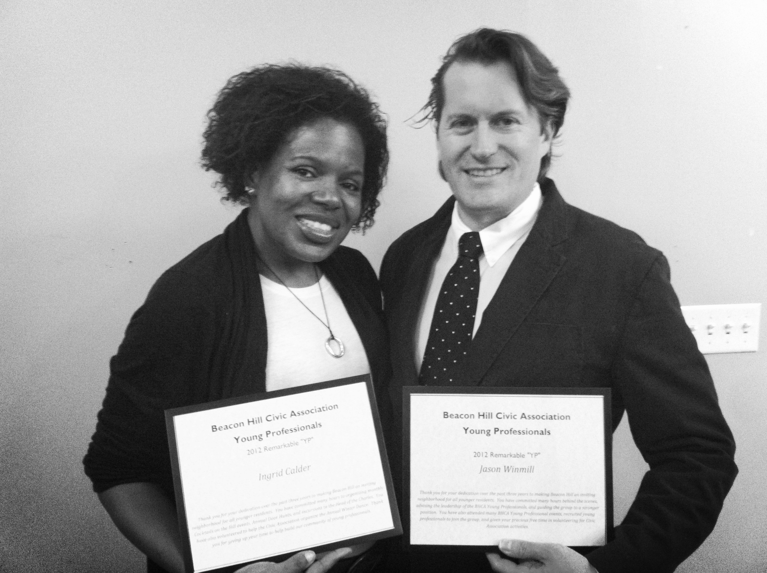 Jason Winmill & Ingrid Calder, the recipients of the Young Professionals Award.
