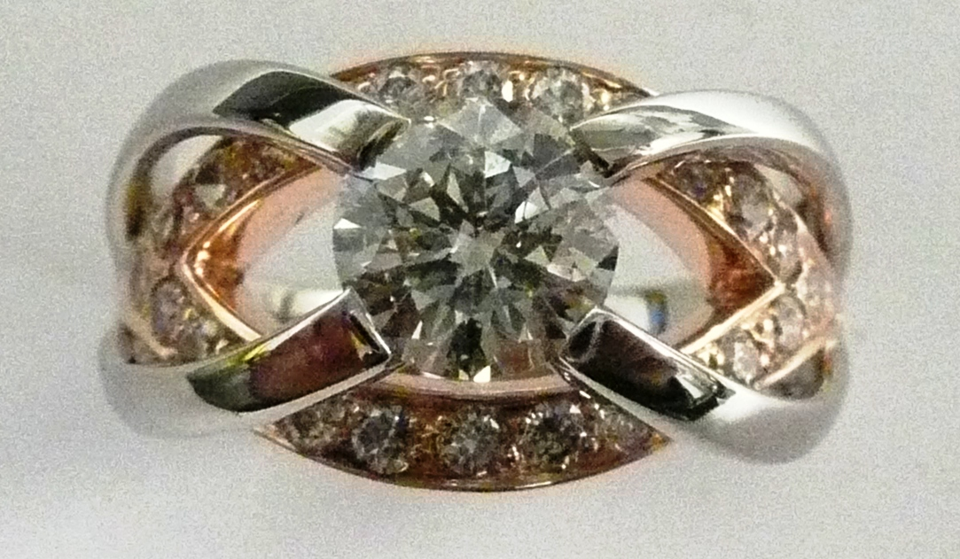 Craft-Revival Jewelers,  engagement ring, diamond engagement ring, diamond ring, modern ring, unique ring, unique engagement ring, rose gold engagement ring