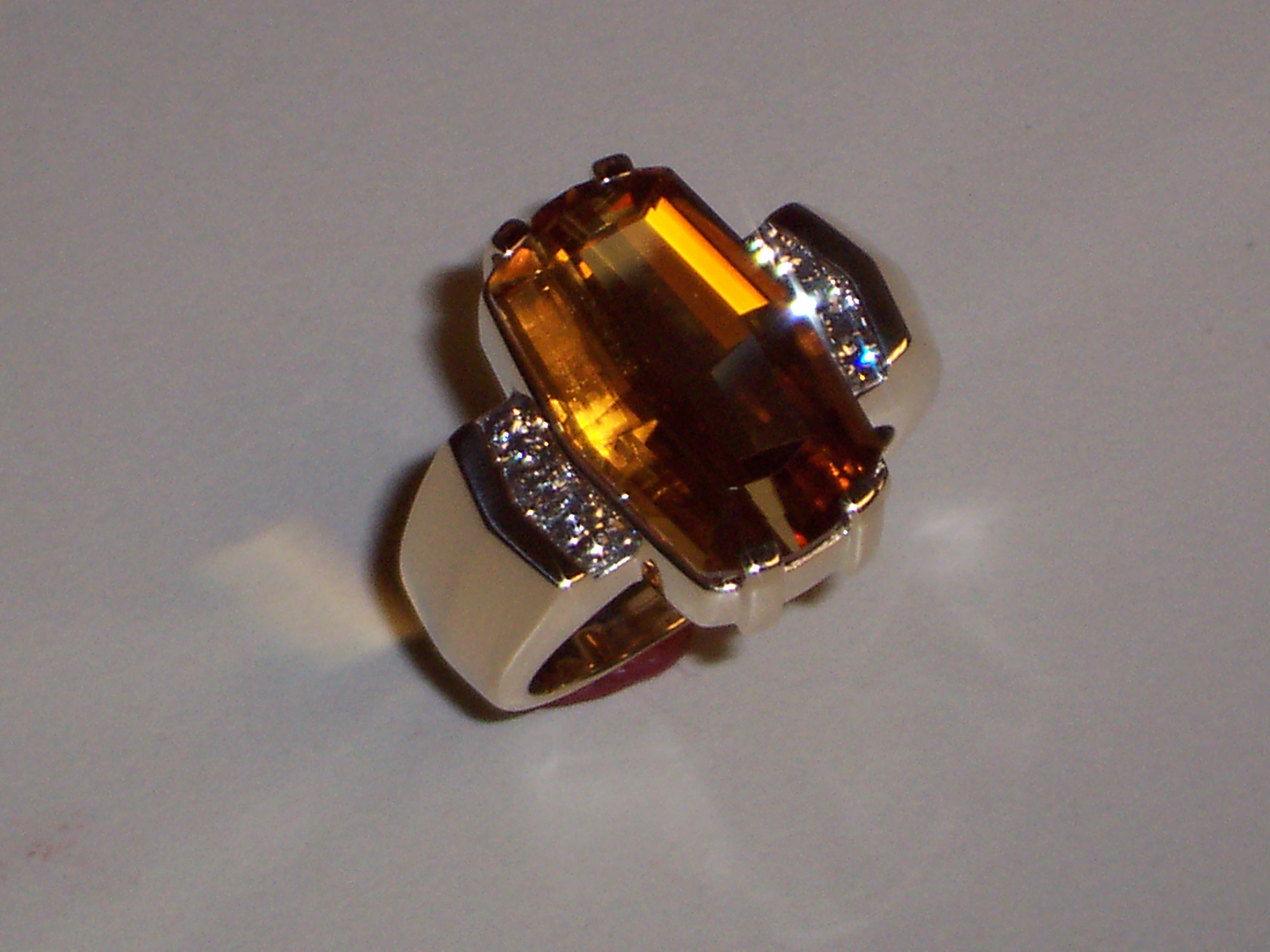 Craft-Revival Jewelers, yellow gold ring, citrine ring