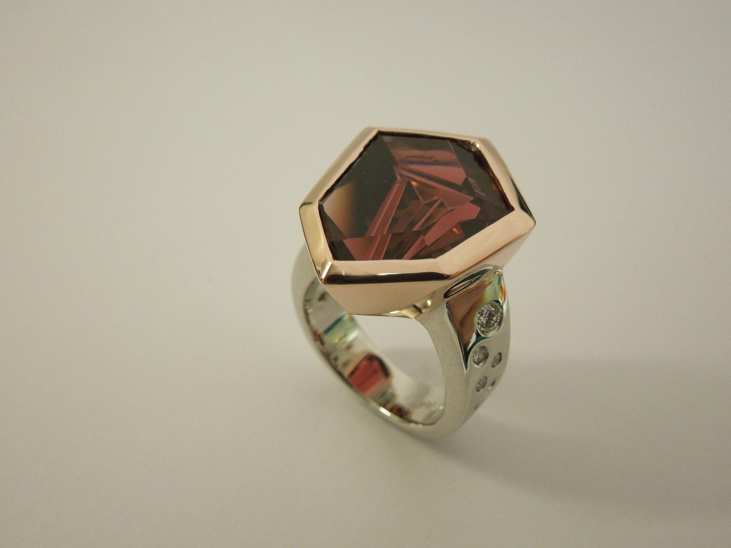 Craft-Revival Jewelers, unique ring, munstiener ring, tourmaline ring