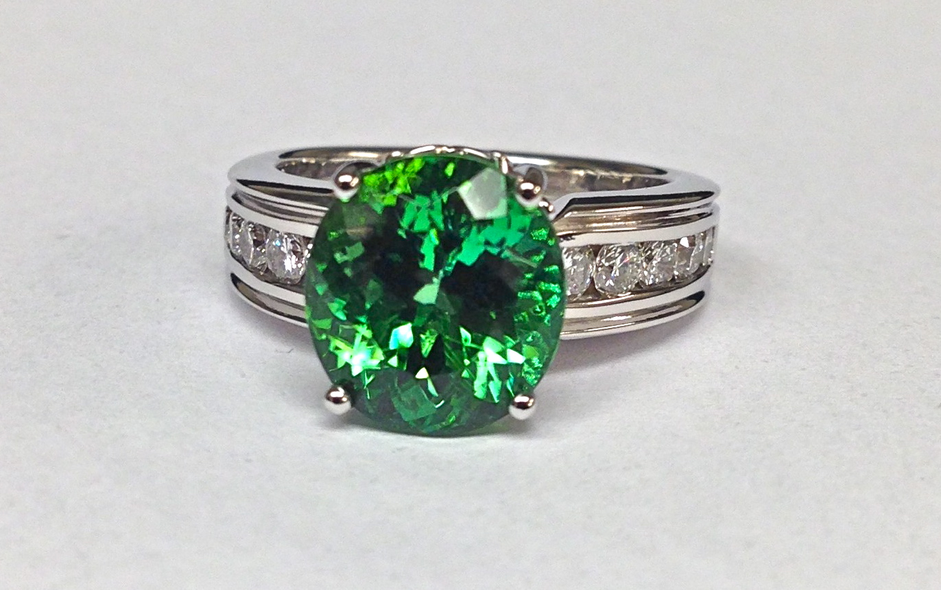 Craft-Revival Jewelers, Green tourmaline ring, unique ring