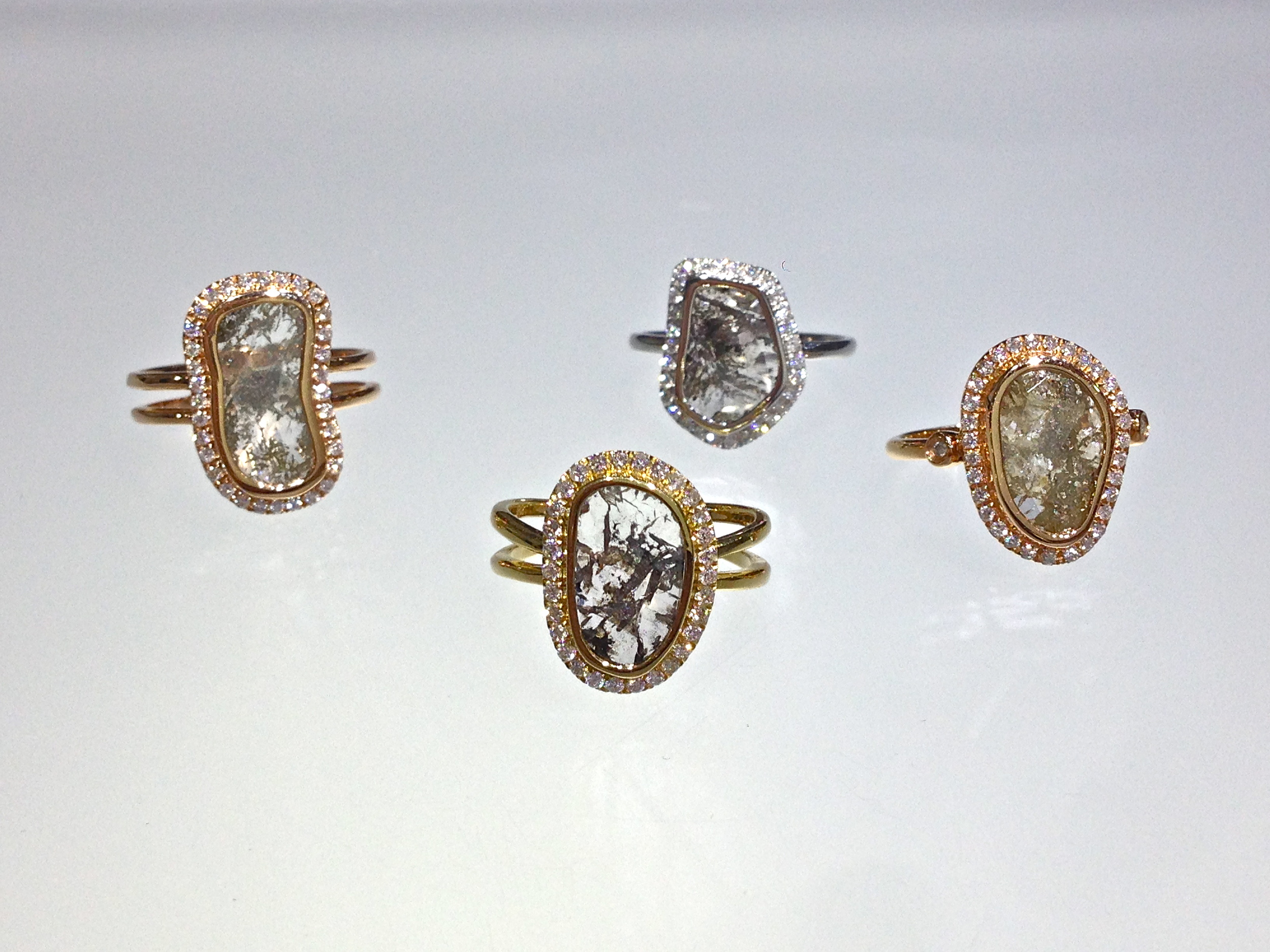 unique-ladies-rose-gold-diamond-slice-raw-diamond-natural-diamond-alternative-engagement-ring-craft-revival-jewelry-store