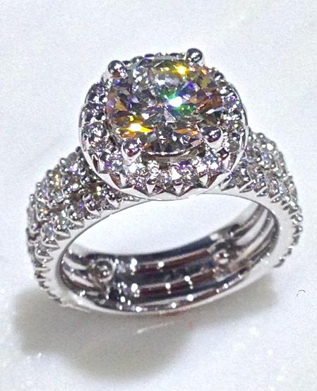 craft-revival-jewelry-store-grand-rapids-white-gold-round-diamond-halo-engagement-ring-wedding-band-diamond-wedding-band-set-unique