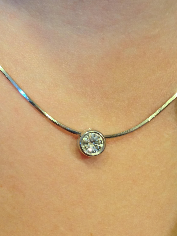 Craft-Revival Jewelers, unique pendant, unqiue necklace, diamond slide
