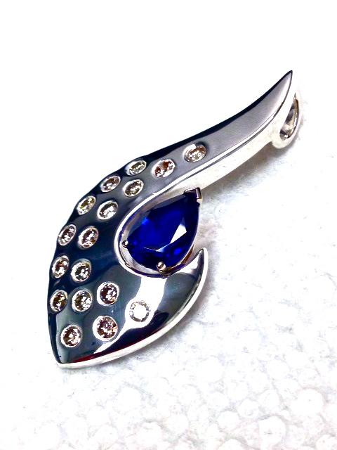 Craft-Revival Jewelers, unique pendant, unqiue necklace, sapphire pendant