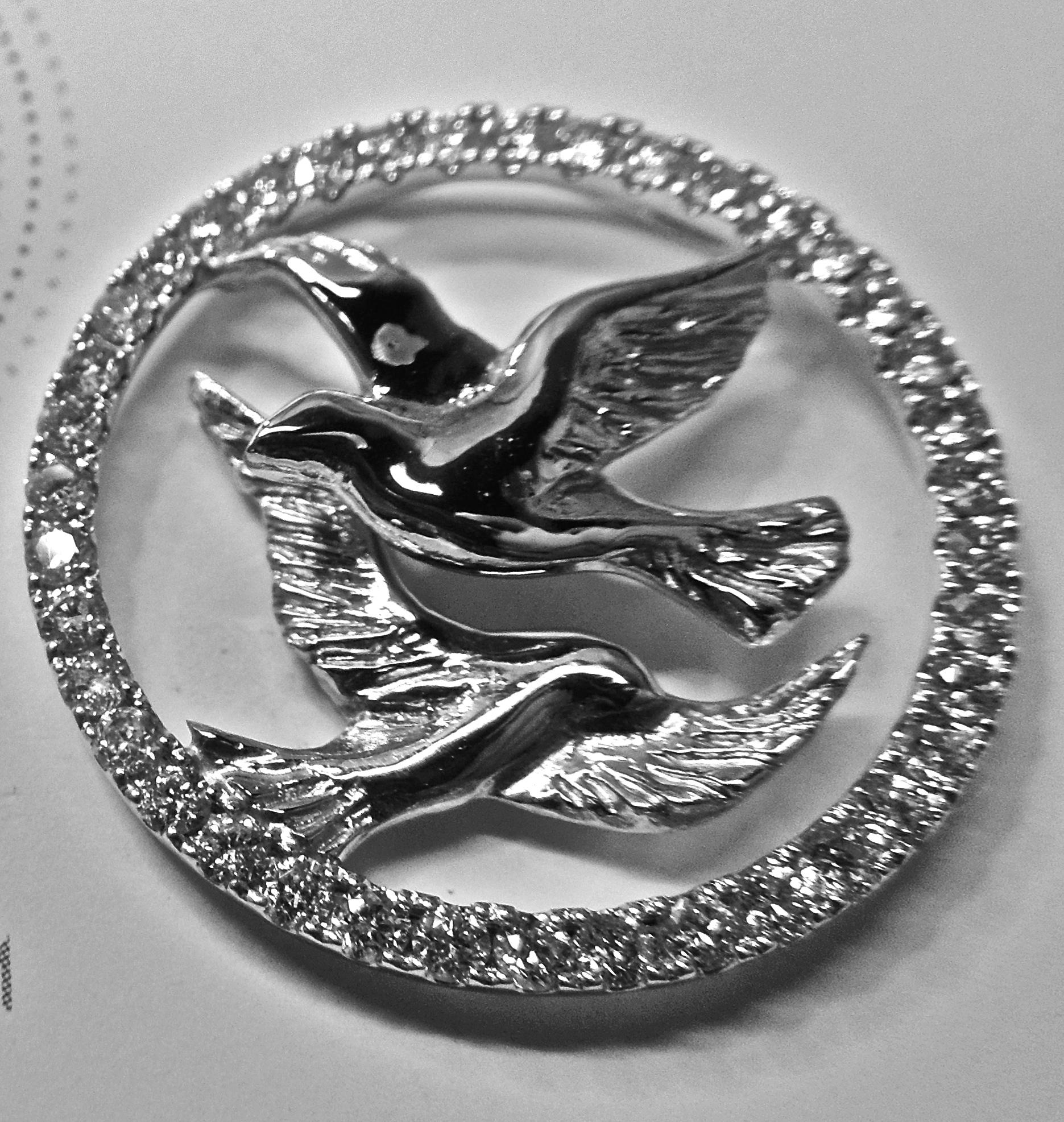 unique-custom-white-gold-pendant-diamond-halo-accents-craft-revival-jewelry-store-grand-rapids-michigan