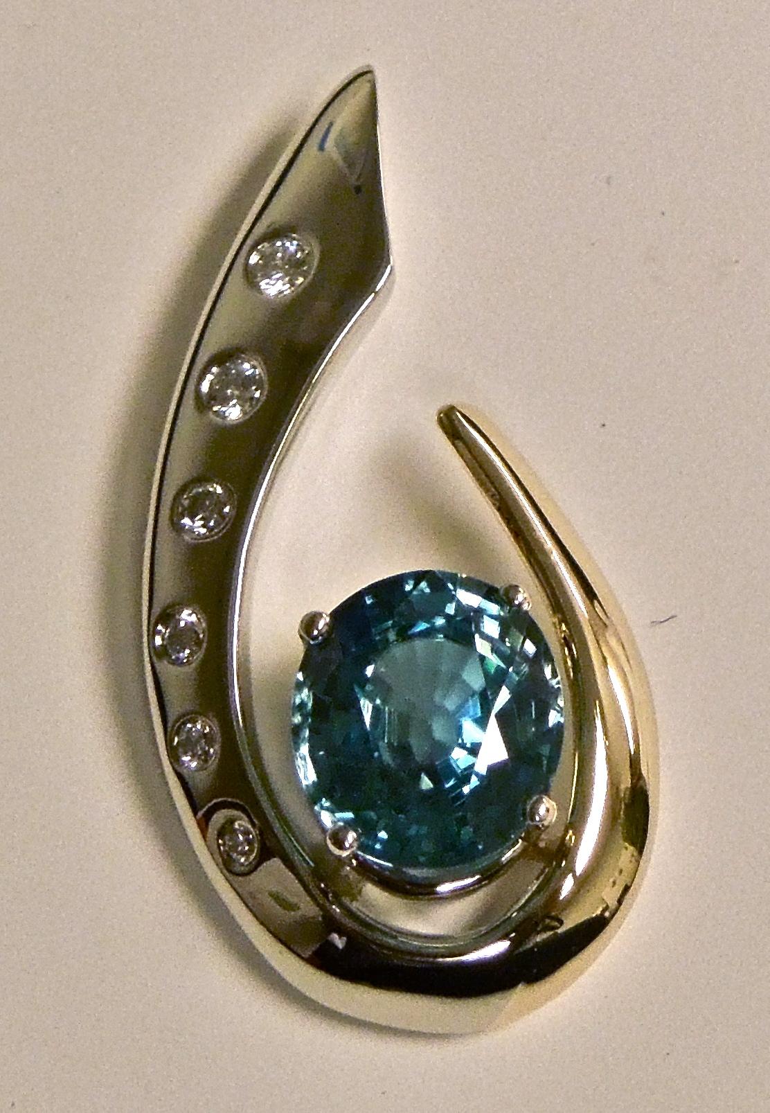 unique-ladies-tourmaline-pendant-diamond-accents-yellow-gold-pendant-craft-revival-jewelry-store-grand-rapids