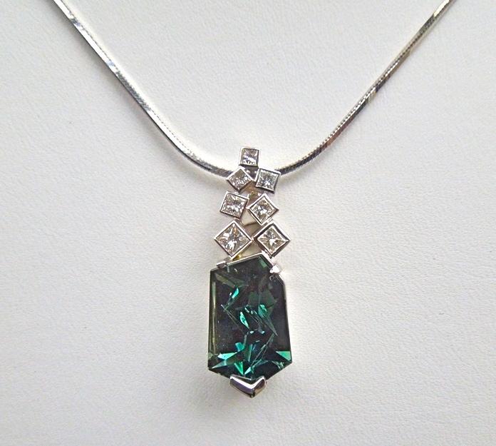 unique-tourmaline-munsteiner-stone-pendant-princess-diamond-accents-white-gold-pendant-craft-revival-jewelry-store-grand-rapids