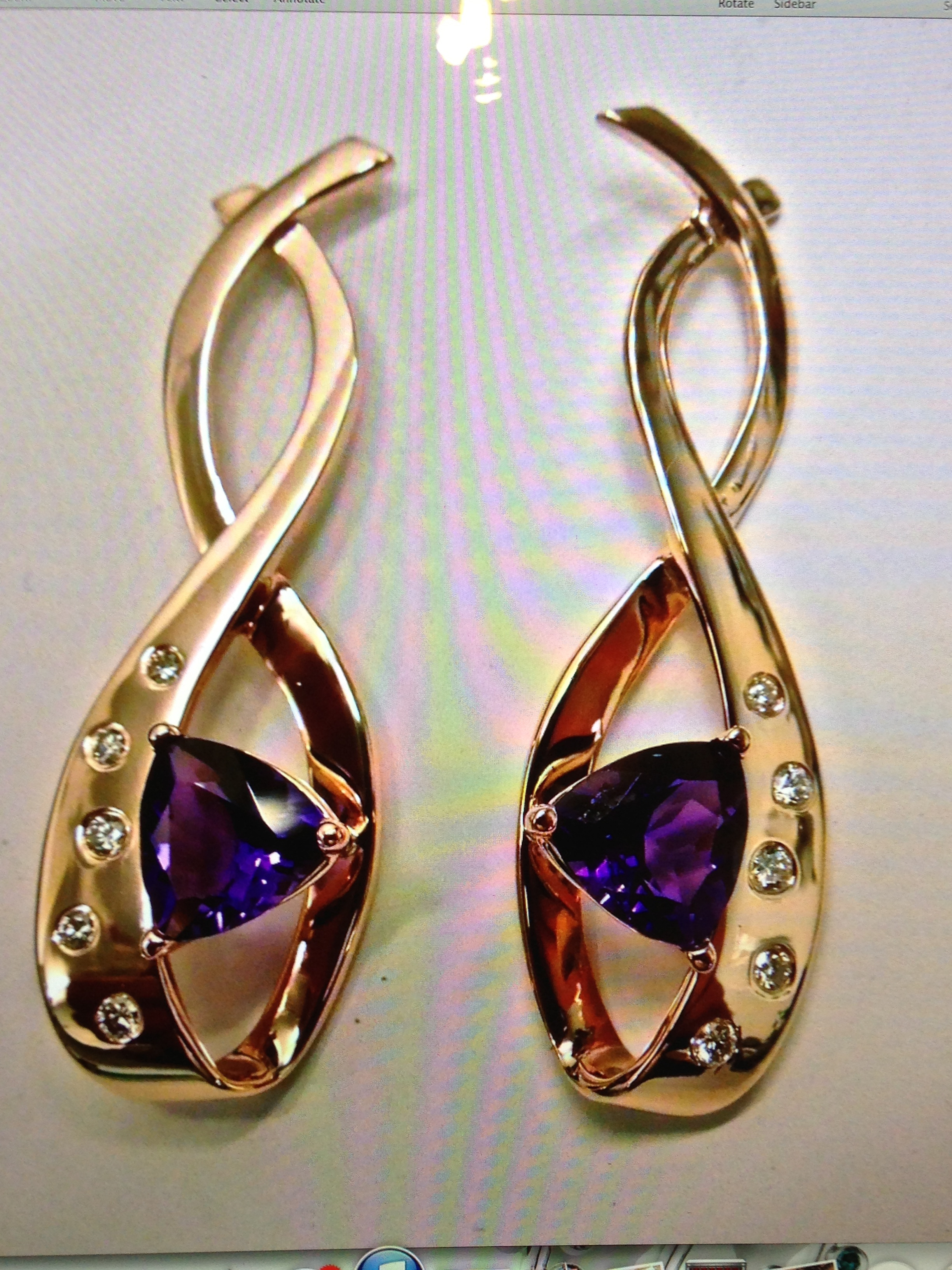 unique-amethyst-rose-gold-drop-earrings-fashion-jewelry-craft-revival-jewelry-store-grand-rapids