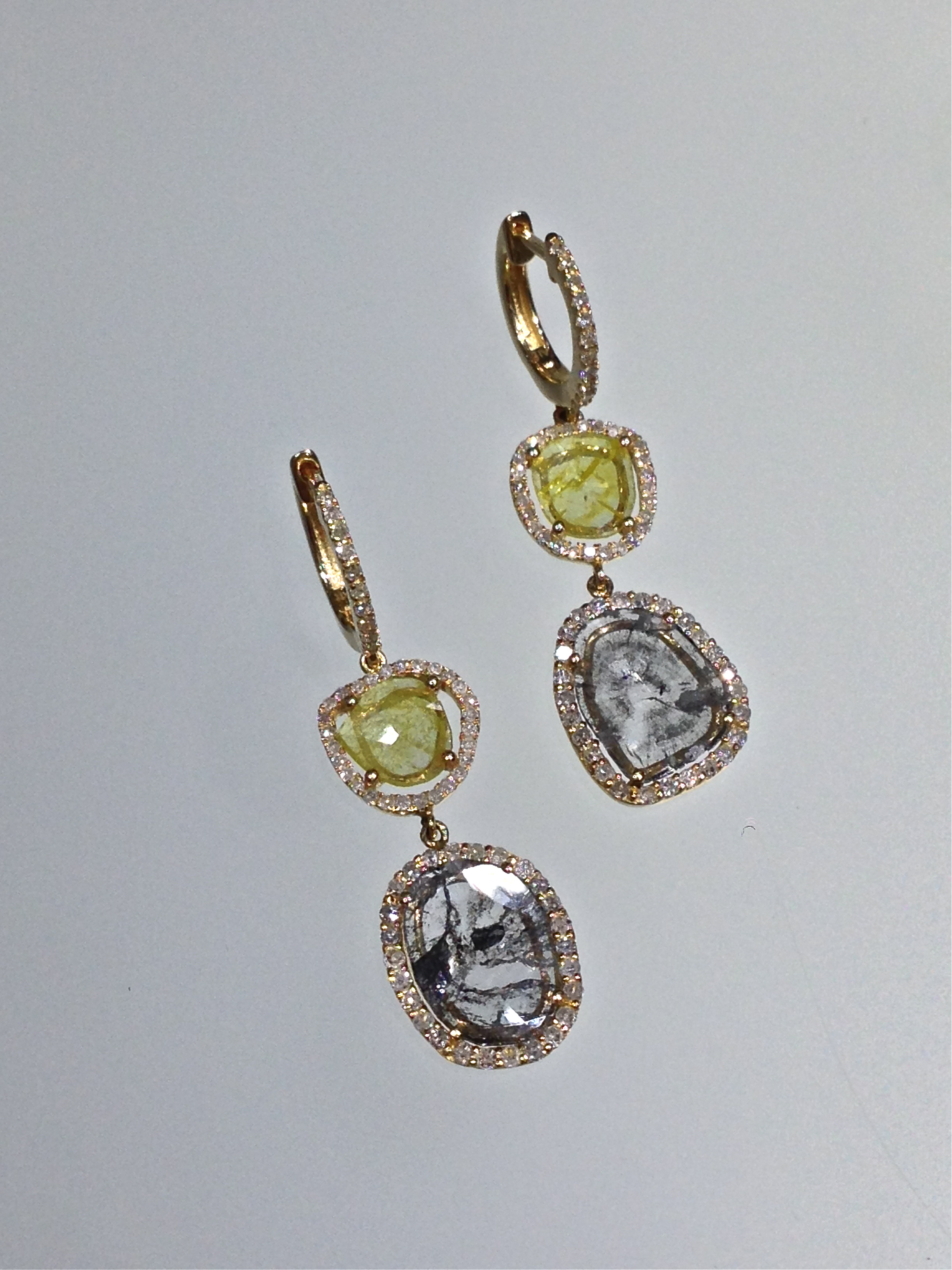 unique-rough-diamond-yellow-diamond-slice-natural-diamond-earrings-craft-revival-jewelry-store-grand-rapids