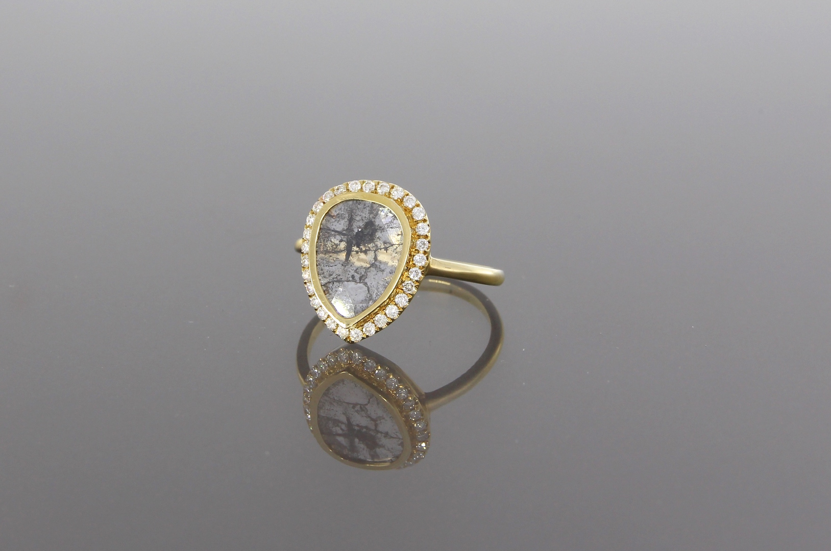 unique-ladies-yellow-gold-diamond-slice-raw-diamond-delicate-halo-alternative-engagement-ring-craft-revival-jewelry-store