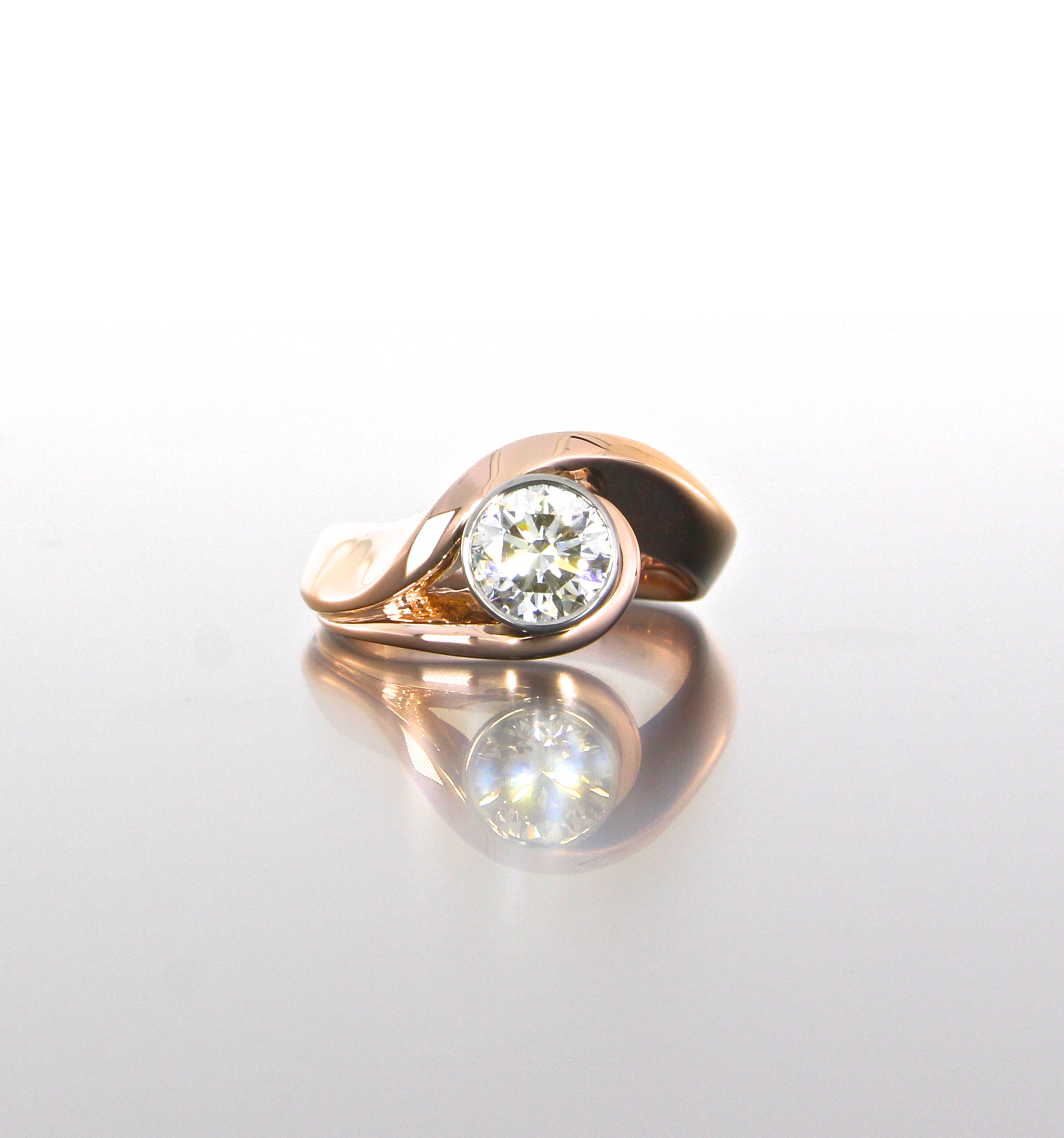 unique-rose-gold-round-diamond-modern-engagement-ring