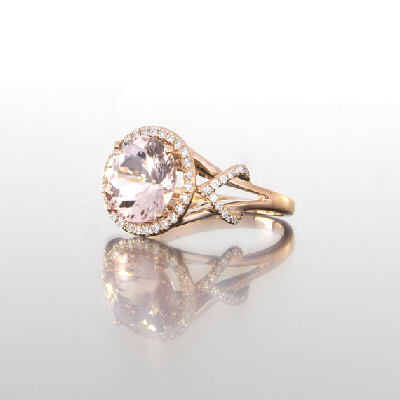 side-view-round-cut-morganite-halo-diamonds-rose-gold-craft-revival-jewelry-store-grand-rapids