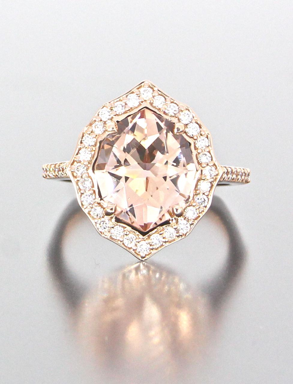 unique-rose-gold-halo-morganite-diamond-halo-engagement-ring-craft-revival-jewelry-store-grand-rapids