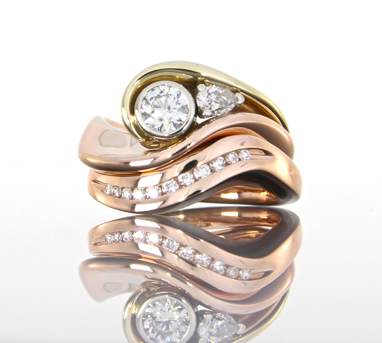 unique-custom-fit-round-diamond-shadow-band-rose-gold-ladies-wedding-band-craft-revival-jewelry-store-grand-rapids
