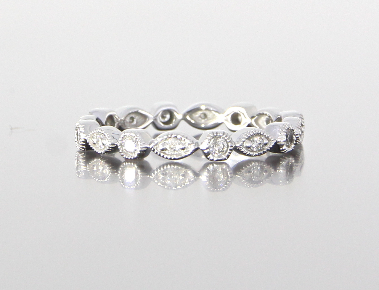 unique-dainty-delicate-diamond-eternity-band-white-gold-craft-revival-jewelry-store-grand-rapids