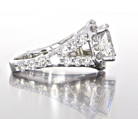 side-view-unique-princess-cut-diamond-cushion-halo-engagement-ring-craft-revival-jewelry-store-grand-rapids