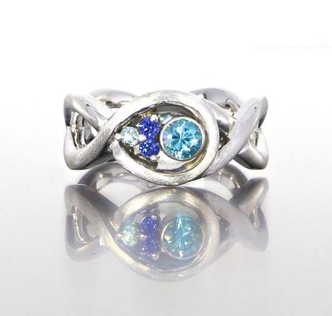 unique-alternative-blue-diamond-tanzanite-white-gold-engagement-ring-craft-revival-jewelry-store-grand-rapids