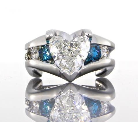 unique-heart-shape-diamond-blue-diamonds-engagement-ring-craft-revival-jewelry-grand-rapids
