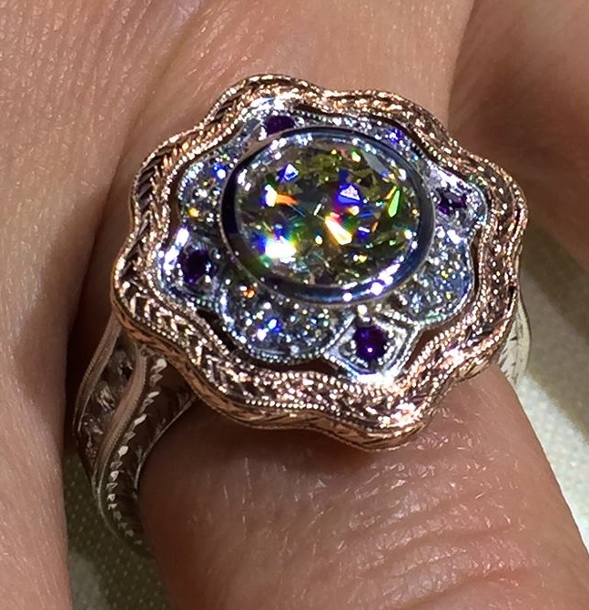 unique-custom-rose-gold-white-gold-round-diamond-halo-vintage-engagement-ring-craft-revival-jewelry-store-grand-rapids