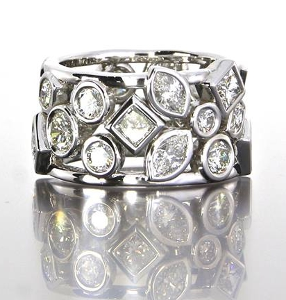unique-custom-organic-white-gold-diamond-marquise-round-princess-cut-ladies-anneversary-band-craft-revival-jewelers-grand-rapids