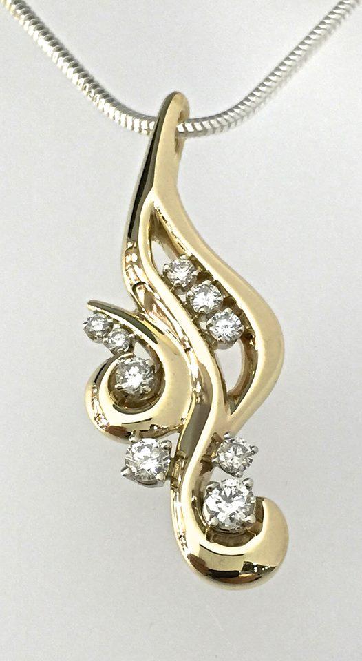 unique-gold-floral-design-diamond-pendant-craft-revival-jewelry-store-grand-rapids