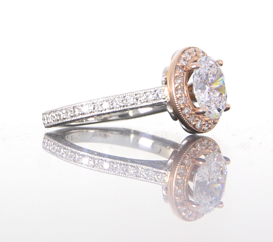 side-view-unique-diamond-halo-engagement-ring-craft-revival-jewelry-store-grand-rapids
