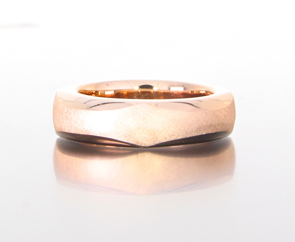 unique-mens-band-textured-faceted-design-wedding-band-rose-gold-custom-modern-design-craft-revival-jewelry-store-grand-rapids