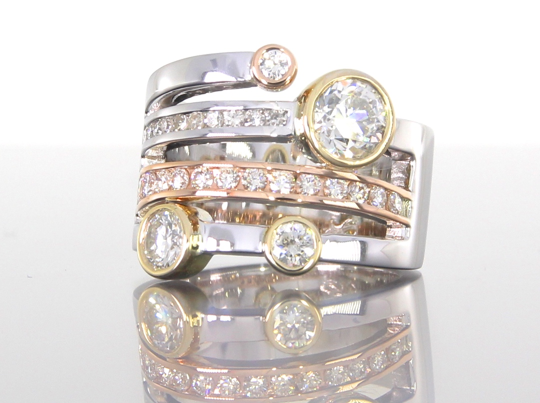 side-view-unique-custom-multi-stacker-wedding-band-diamond-princess-round-cut-craft-revival-jewelry-store-grand-rapids