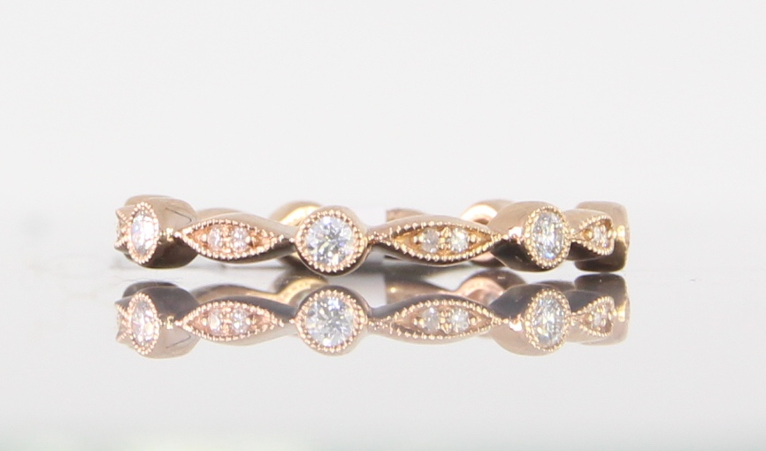 unique-dainty-delicate-diamond-eternity-band-rose-gold-craft-revival-jewelry-store-grand-rapids