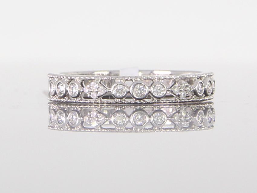 unique-antique-vintage-delicate-eternity-band-white-gold-round-diamonds-craft-revival-jewelers-grand-rapids