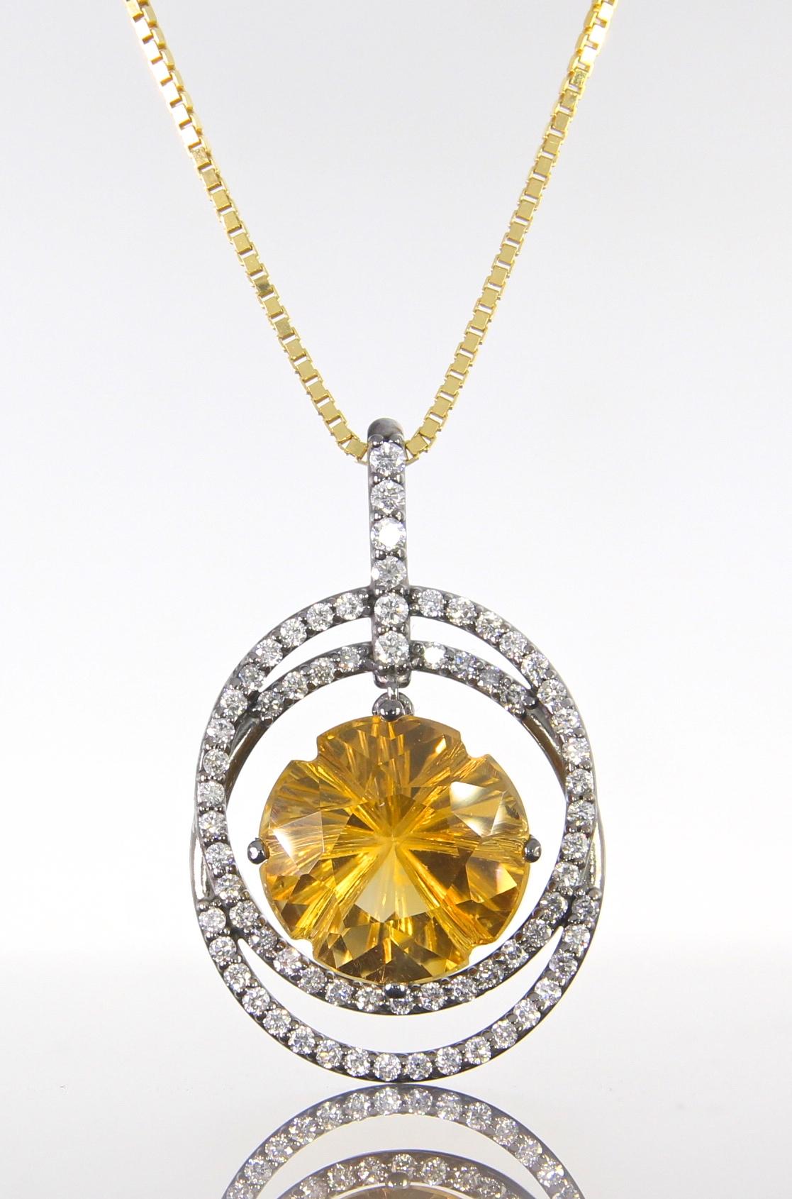 unique-double-diamond-halo-citrine-stone-pendant-craft-revival-jewelry-store-grand-rapids