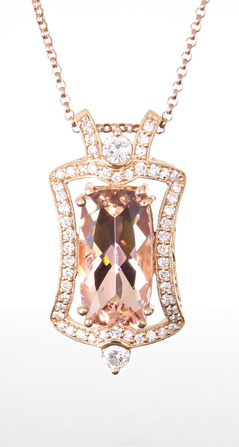 unique-morganite-diamond-halo-pendant-rose-gold-fashion-jewelry-craft-revival-jewelry-store-grand-rapids