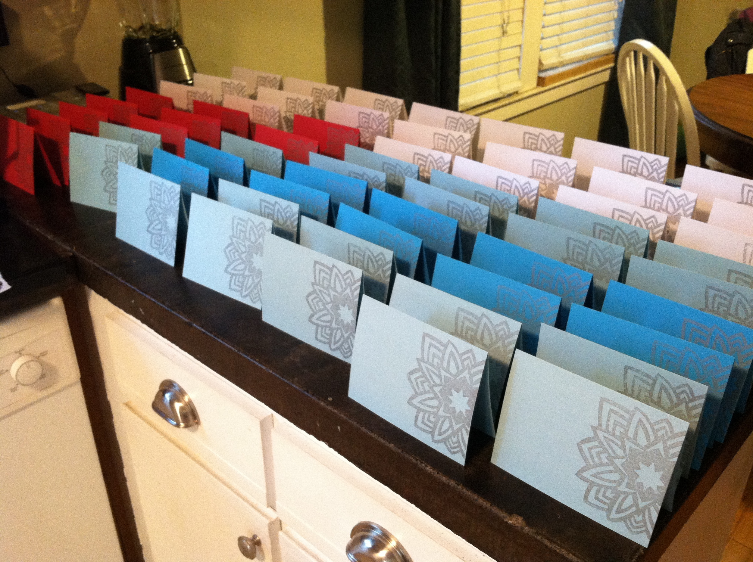 Drying cards