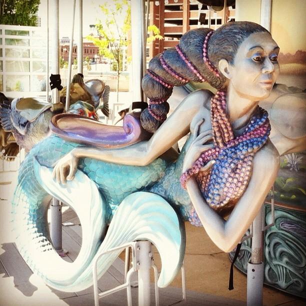 Riverwalk Detroit. Love mermaids.