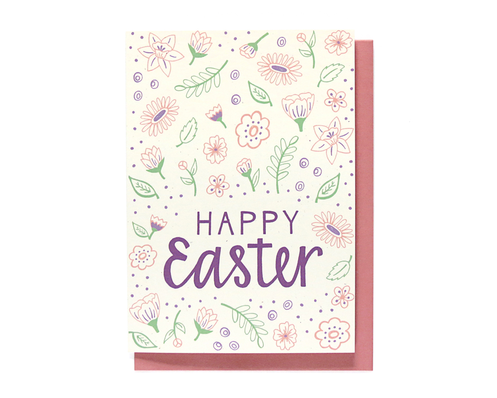 happy easter card - hennel paper co.