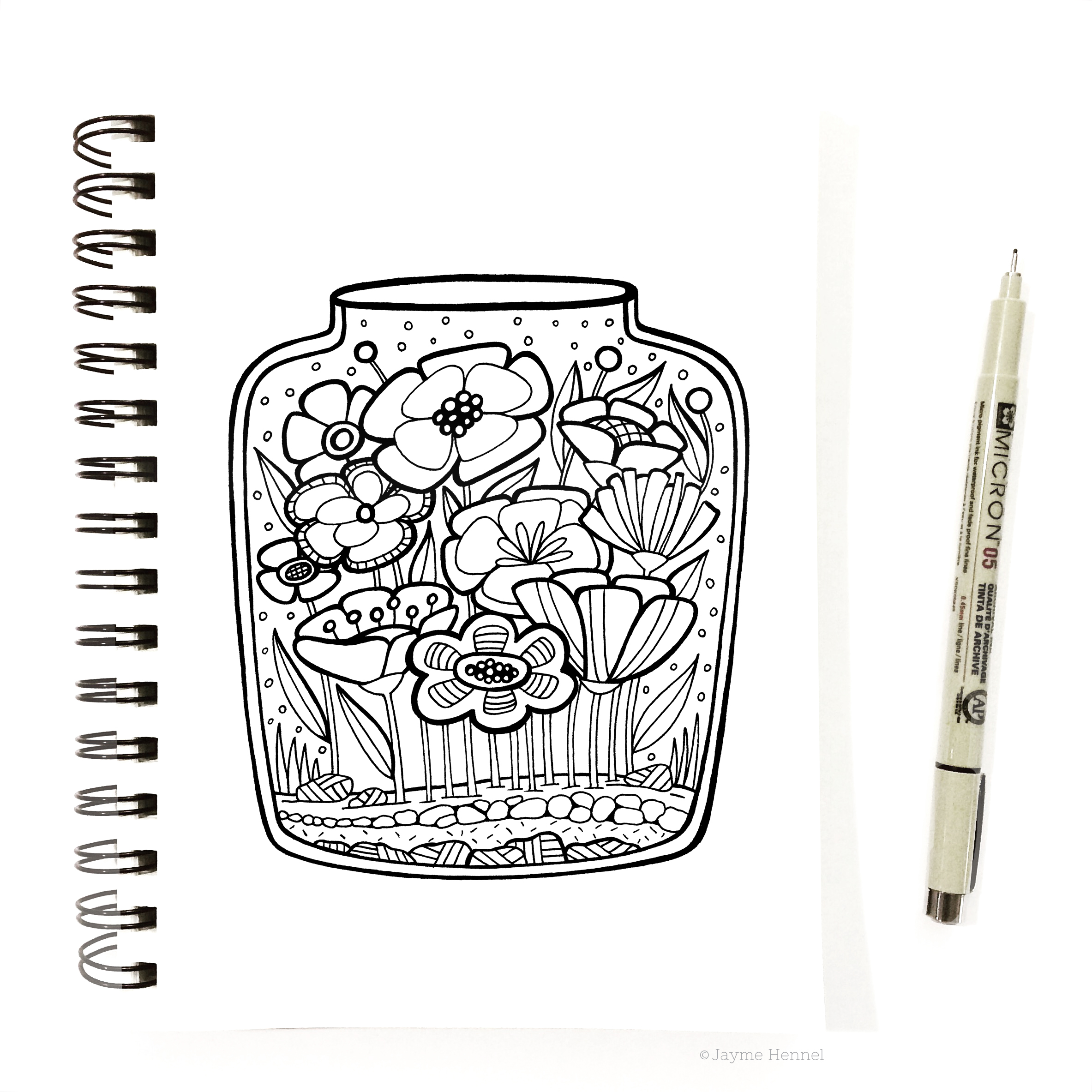 hennel paper co flower terrarium