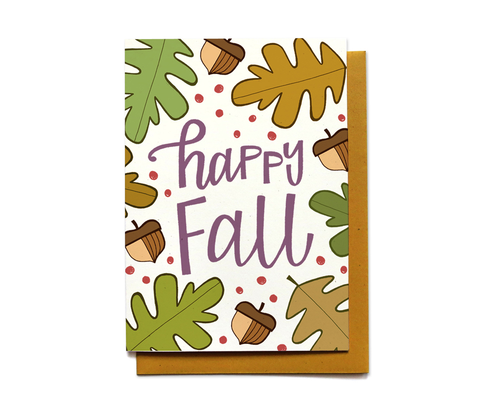 happy fall greeting card by hennel paper co