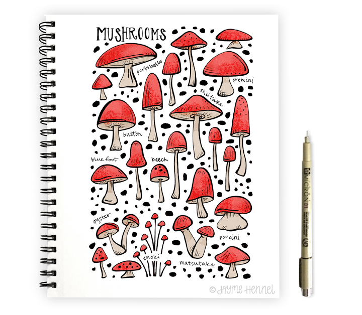 mushrooms - hennel paper co