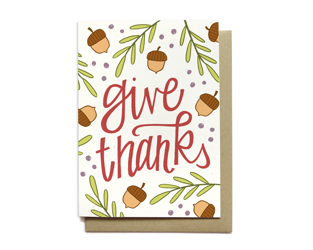 give thanks - hennel paper co