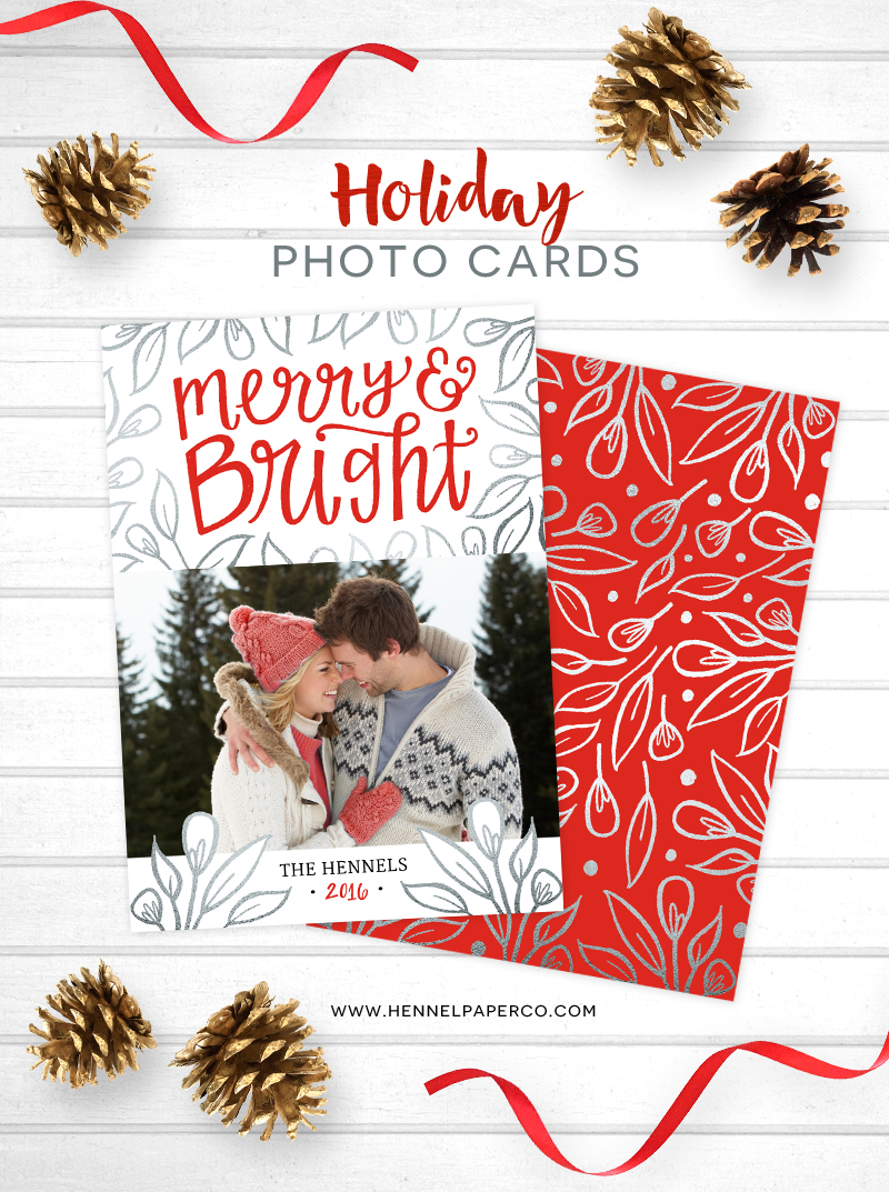 hennel paper co holiday photo cards