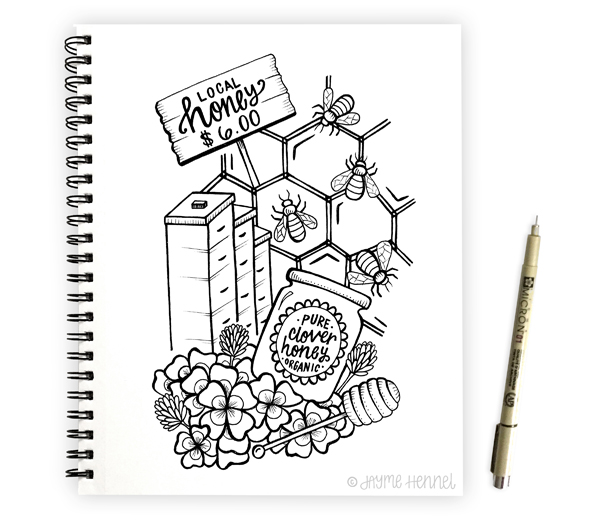 Local Honey ©Jayme Hennel - Hennel Paper Co.