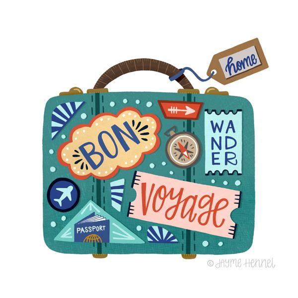 Bon Voyage © Jayme Hennel - Hennel Paper Co.