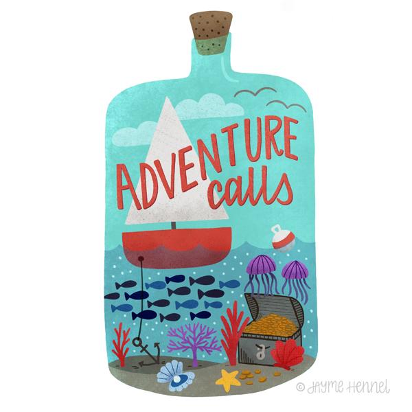 Adventure Calls  © Jayme Hennel - Hennel Paper Co.