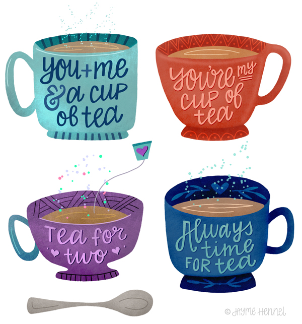 Tea Cups © Jayme Hennel // Hennel Paper Co.
