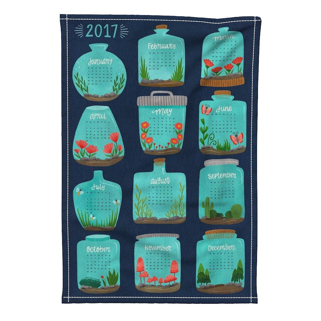 hennel 2017 calendar tea towel