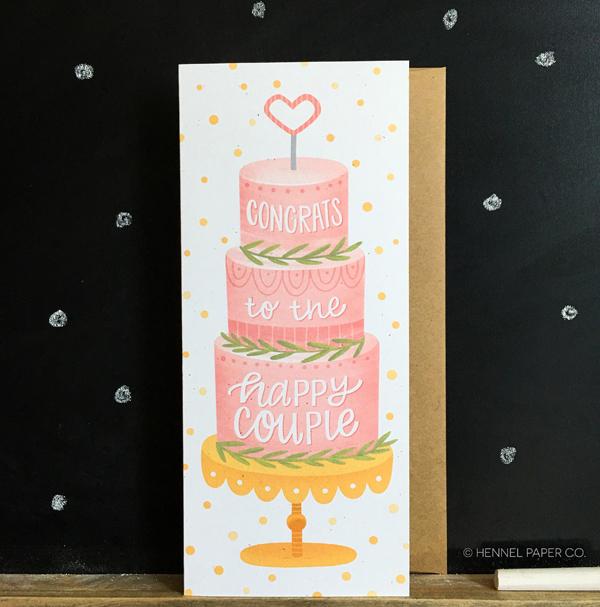 wedding cake card - hennel paper co.jpg