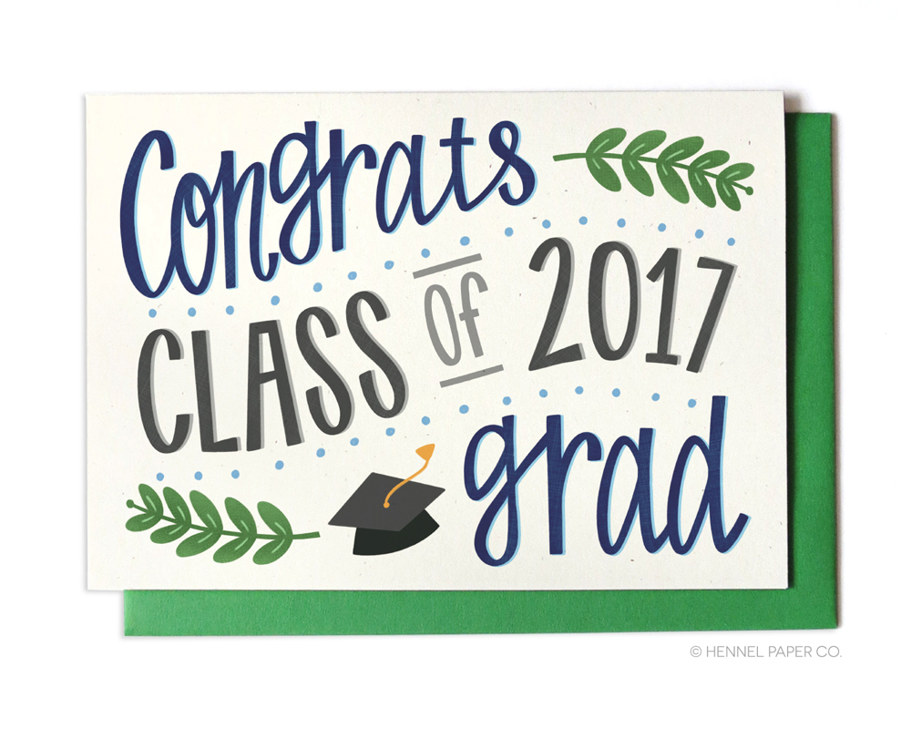 grad card - graduation card - 2017 ivy- hennel paper co.